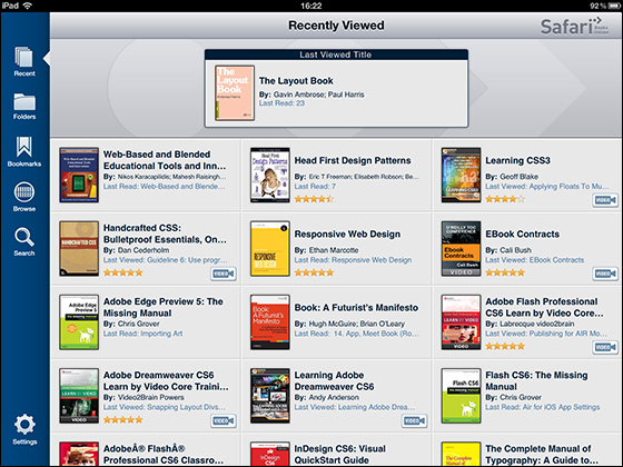 Safari Books OnlineのiPadアプリ