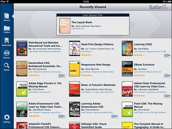 Safari Books OnlineのiPadアプリ