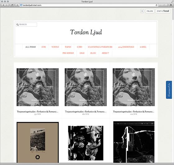 スウェーデンのレーベル「Tordon Ljud」